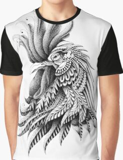 Ornately Decorated Rooster Graphic T-Shirt
