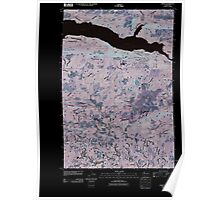 USGS Topo Map Washington State WA Amboy 20110404 TM Inverted Poster