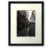 Lone & Crowded Framed Print