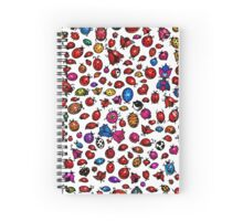 Ladybug Tattoos Spiral Notebook