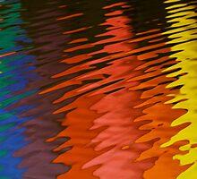 Hot Air Balloon Water Reflection by Ray Chiarello
