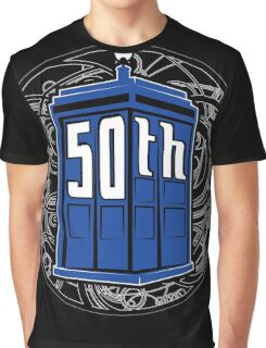 Happy 50th Tardis Graphic T-Shirt