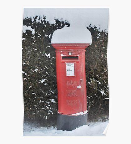 Christmas post box Poster