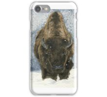 Bison in Snow iPhone Case/Skin