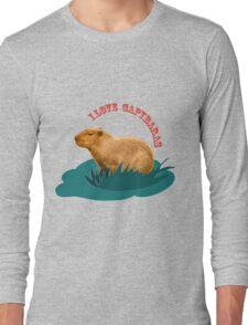 I love capybaras Long Sleeve T-Shirt