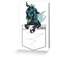 Queen Chrysalis pocket Greeting Card