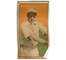 Benjamin K Edwards Collection F Williams San Francisco Team baseball card portrait Poster