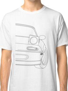 miata outline - black Classic T-Shirt