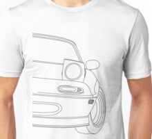 miata outline - black Unisex T-Shirt