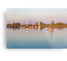 Impressions of Summer - Sailing Home at Sundown Metal Print