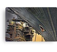 Super structure USS Kitty Hawk Canvas Print