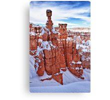 Winter Temples Canvas Print
