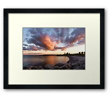 Colorful Summer Sunset - Lake Ontario Impressions Framed Print
