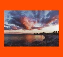 Colorful Summer Sunset - Lake Ontario Impressions Kids Tee