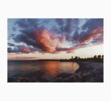 Colorful Summer Sunset - Lake Ontario Impressions One Piece - Short Sleeve