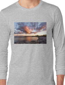 Colorful Summer Sunset - Lake Ontario Impressions Long Sleeve T-Shirt