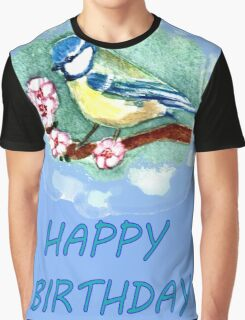 BLUE TIT TEE SHIRT/KIDS CLOTHES/STICKER PHONE CASE/TABLET Graphic T-Shirt