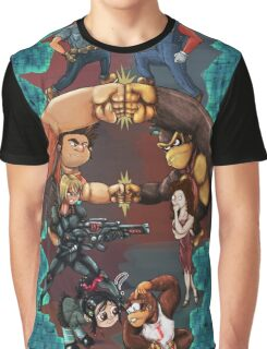 Wreck it Ralph and Mario mash-up Graphic T-Shirt