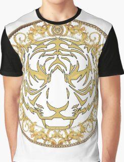 Gold tiger print Graphic T-Shirt