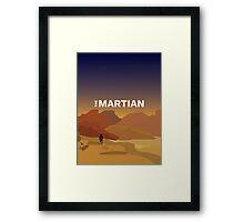 The Martian Minimal Poster Framed Print