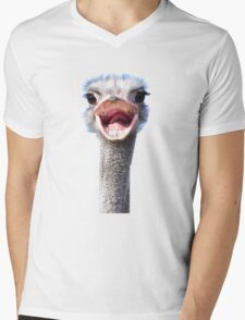 Goofy ostrich Mens V-Neck T-Shirt