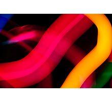 Neon Worms Photographic Print