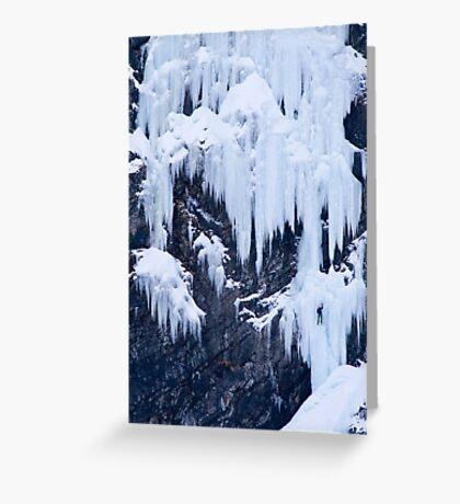 Ice Climber Greeting Card