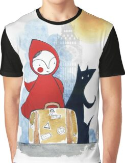 Red & Wolf in London Graphic T-Shirt
