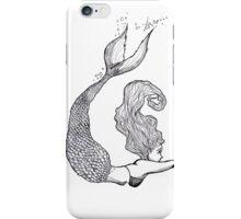Monochrome Mermaid  iPhone Case/Skin