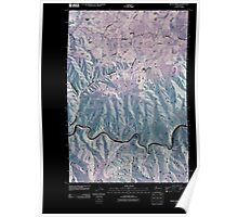 USGS Topo Map Washington State WA Fields Spring 20110406 TM Inverted Poster