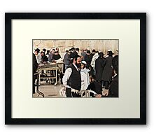 ירושלים . Jerusalem ,     لقدس . Hierosolyma, Aelia Capitolina . Bar micwa . no.2. Featured in RELIGIONS OF THE WORLD. 50+ Group.  Views: 1803 . Toda raba. Framed Print