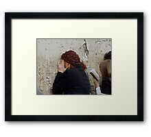Jerusalem . Featurted in Religions of the World Group. Favorites: : 4 Views: 465 .  Toda raba  zeh hachever sheli ! Framed Print