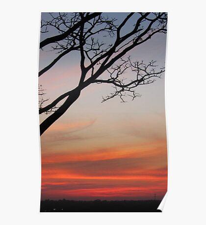 Sunset At Three Borders Poster