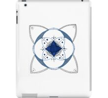 Mandala #3 Blue and White iPad Case/Skin