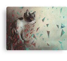 Kitten on the hunt. Canvas Print