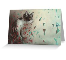 Kitten on the hunt. Greeting Card