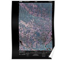 USGS Topo Map Washington State WA Selah 20110404 TM Inverted Poster