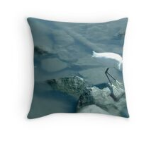 AT THE HARBOR..  BLUE Throw Pillow