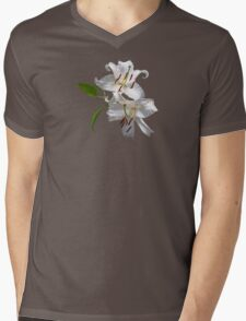 Two White Lilies Mens V-Neck T-Shirt