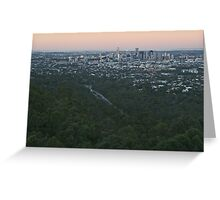Sunset over Brisbane City and Suburbs Greeting Card