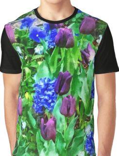 Spring Garden in Shades of Purple Graphic T-Shirt