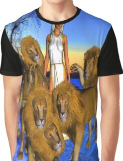 Lions in Winter Graphic T-Shirt