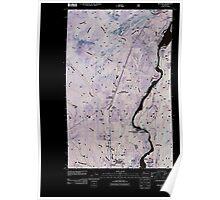 USGS Topo Map Washington State WA Metaline 20110428 TM Inverted Poster