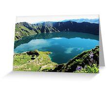 Laguna Quilotoa - Ecuador´s Volcanic Lake Greeting Card