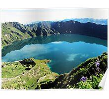 Laguna Quilotoa - Ecuador´s Volcanic Lake Poster
