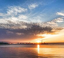 Brilliant June Sunrise - Toronto Skyline Impressions by Georgia Mizuleva