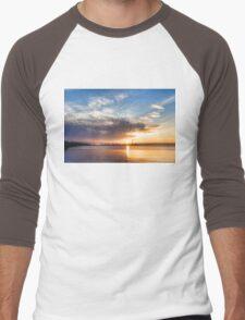 Brilliant June Sunrise - Toronto Skyline Impressions Men's Baseball ¾ T-Shirt