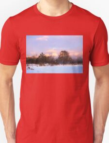 Watercolor Winter - Colorful Day on the Lake Unisex T-Shirt