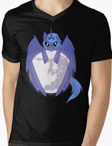 Luna wrapped around the moon Mens V-Neck T-Shirt