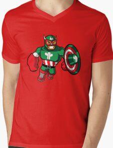 Captain Mexico Mens V-Neck T-Shirt
